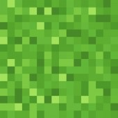 Minecraft Green Pixels Video Game Licensed Quilting Fabric