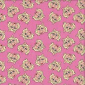 Muppets Little Miss Piggy on Pink Licensed Quilting Fabric