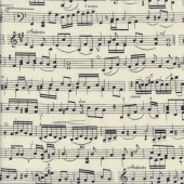 Music Notes on Cream Musical Quilting Fabric
