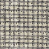 Music Notes on Beige Sew Musical Musician Quilting Fabric