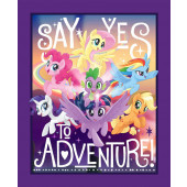 My Little Pony Adventure Girls Quilting Fabric Panel