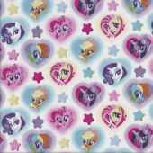 My Little Pony on White Rainbow Dash Licensed Quilting Fabric