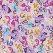 My Little Pony on Pink Twilight Sparkle Licensed Quilting Fabric