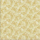 Butterflies Tonal Yellow Quilting Fabric