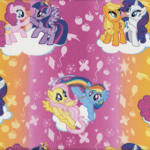 My Little Pony Pinkie Pie and Twilight Sparkle Girls Kids Licensed Quilt Fabric