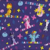 My Little Pony Fluttershy Rainbow Dash Girls Kids Licensed Quilt Fabric