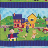 Noddy Border Quilting Fabric
