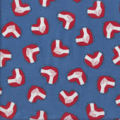 Nurses Caring Hands Support and Love Blue Quilting Fabric