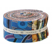 "Jelly Roll 40 Piece Australian Aboriginal 2.5"" Precut Quilting Strips"