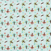 Planes and Stars Oh Boy Kids Quilt Fabric