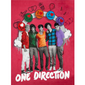 One Direction Niall Liam Louis Harry Zayn Fleece Fabric Panel