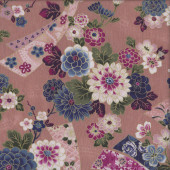 Oriental Flowers Cherry Blossom Quilting Fabric