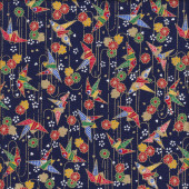 Japanese Origami Birds Quilting Fabric