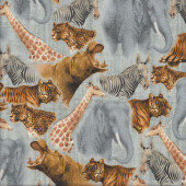 Out of Africa Grey Quilting Fabric