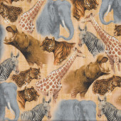 Out of Africa Tan Quilting Fabric