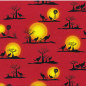 Outback Kangaroos Fabric