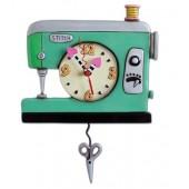 Stitch Sewing Machine Pendulum Wall Clock