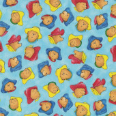 Paddington Bear Hats Quilting Fabric