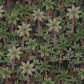 Palm Trees on Black Garden Nature Landscape Quilt Fabric