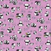 Cute Panda Bears Quilting Fabric