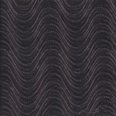 Wind Wave on Black with Metallic Gold Pansy Noir Quilting Fabric
