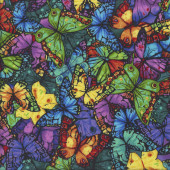 Colourful Butterflies Butterfly Pavilion Quilting Fabric