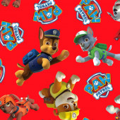 Paw Patrol Marshall Rocky Chase Large Print Fleece Fabric