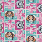 Paw Patrol Best Pups Ever Kids Quilting Fabric