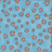 Fun Paws on Blue Loralie Designs Pet Dog Quilting Fabric
