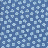 Paw Prints on Blue Dogs Quilting Fabric