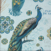 Large Peacocks Quilting Fabric