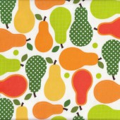 Pears Fruit Yellow Orange Green Anne Kelle Food Quilt Fabric