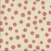 Peppermint Swirls Candy Quilting Fabric