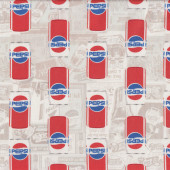 Pepsi Cans Licensed Quilt Fabric
