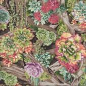 Succulents Perennial Paradise Plants Garden Gardening Quilting Fabric