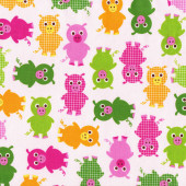 Pigs on Pink Urban Zoologie Ann Kelle Quilting Fabric