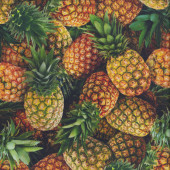 Pineapples Pineapple Fruit Kitchen Quilting Fabric