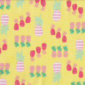 Pineapples on Yellow Fruit Quilt Fabric
