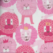Lions with Crowns Quilting Fabric
