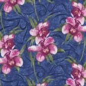 Pink Cymbidium Orchids Fabric
