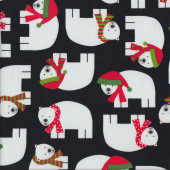 Christmas Polar Bears Quilting Fabric