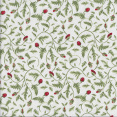 Red Flower Buds Quilting Fabric