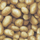 New Potatos Spuds Potatoes Vegetable Veggie Kitchen Quilting Fabric