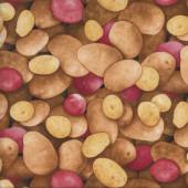 Potatos Spuds Potatoes Veggie Kitchen Quilting Fabric