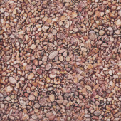 The Potted Garden Brown Pebbles Nature Landscape Quilting Fabric