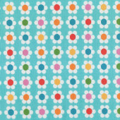 Pretty Blue Pink Green Red Daisy Flowers Remix Quilt Fabric