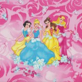 Princesses Cinderella Sleeping Beauty Belle Disney Quilting Fabric