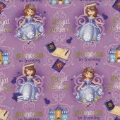 Sofia Princess in Training Girls Kids Licensed Quilt Fabric