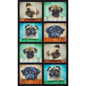 Gorgeous Pug Dogs Puppy Puppies Dog Quilting Fabric Panel
