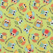 Owls Waterproof PUL Fabric For Making Nappies Wetbags etc
